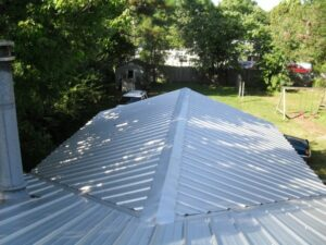 colored metal roofing