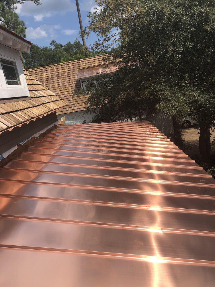 metal copper roof