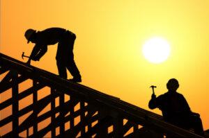 roofer working overtime